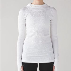 Lululemon White Rest Less Hoodie Athletic Active
